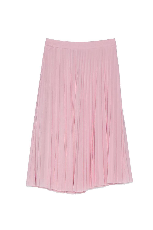Falda rosa de Bershka.