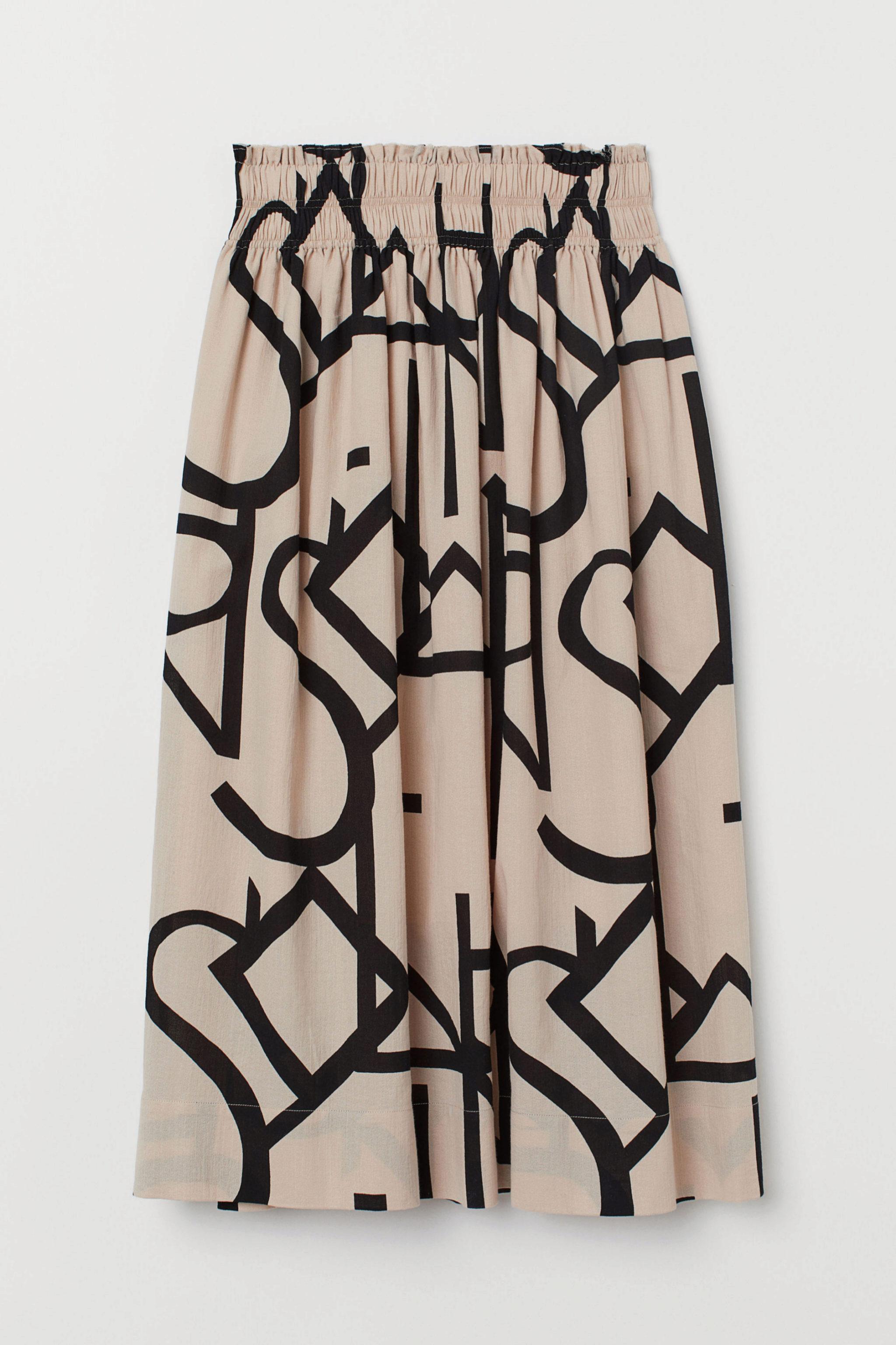 Falda midi con estampado gráfico de H&M