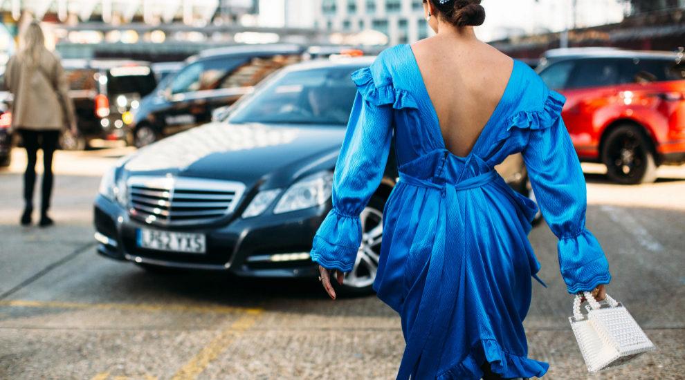 Vestidos en el street style de Londres