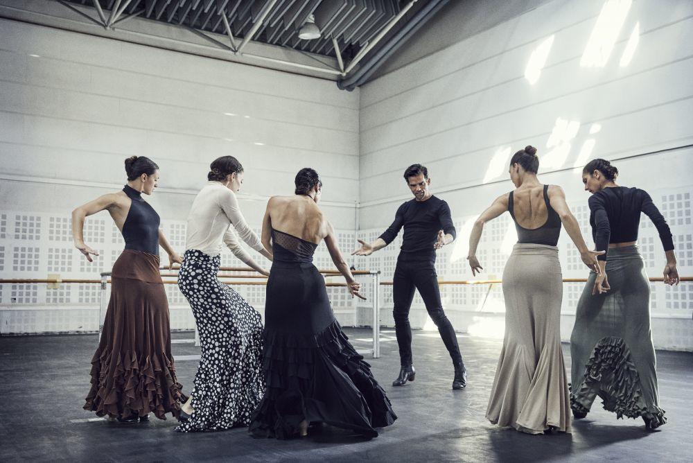 El Ballet Nacional durante un ensayo.