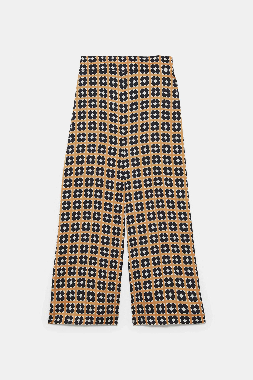 Pantalón con estampado de mosaico de Zara