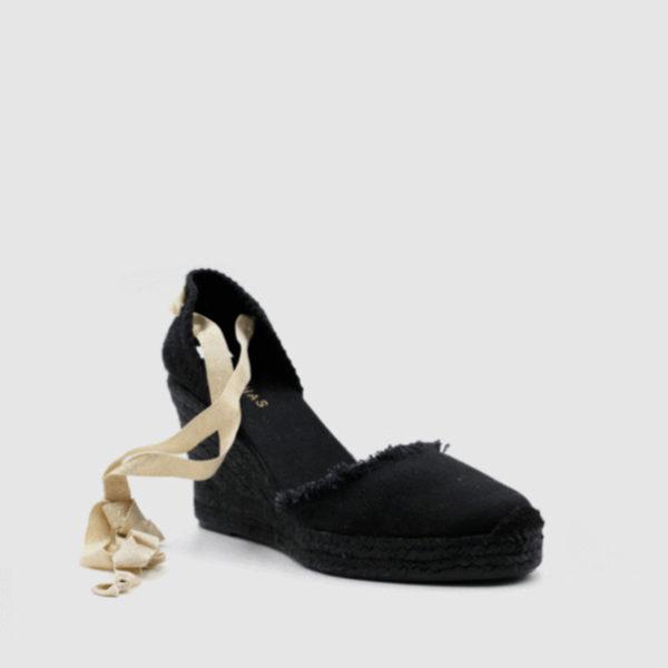 Alpargata bicolor en color negro de Alohas Sandals