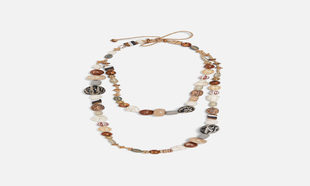Collar étnico de piedras de Zara