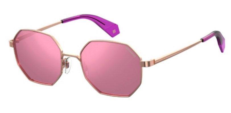 Gafas de sol con cristales en rosa y forma octogonal de Polaroid