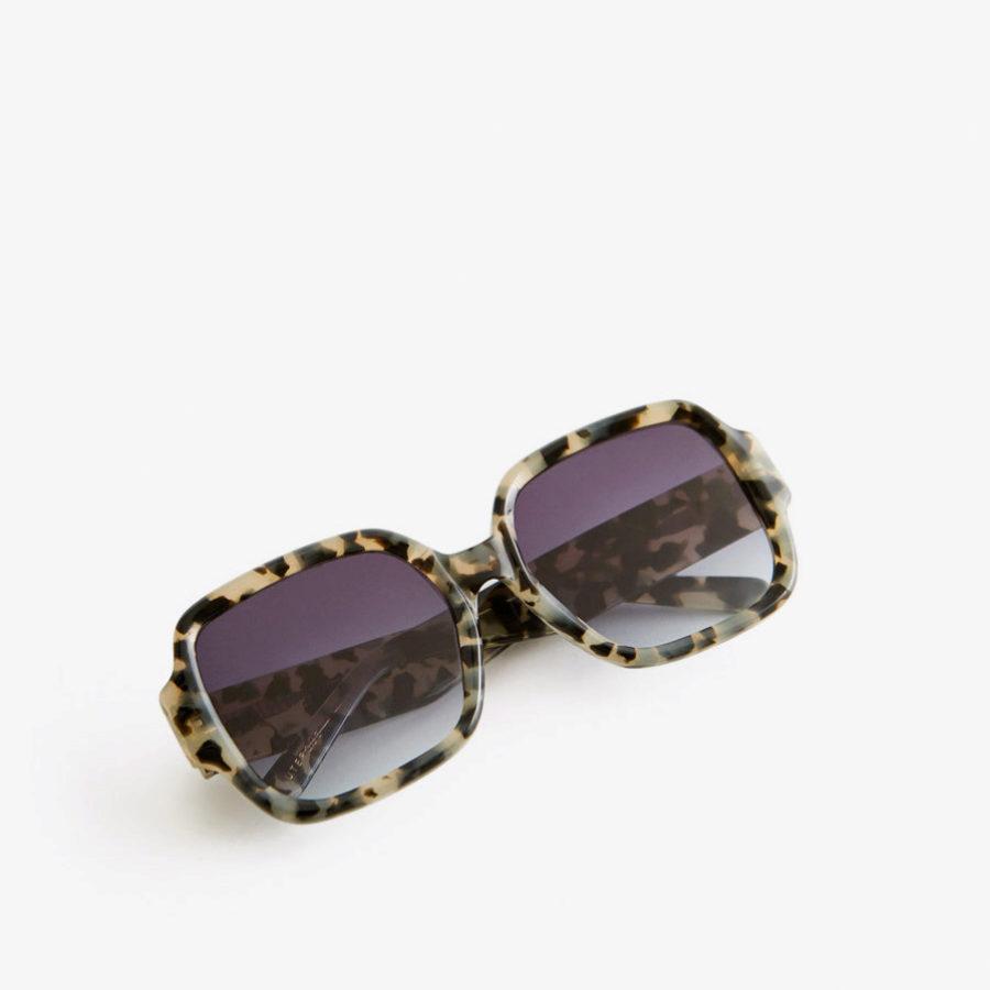Gafas tamaño XL inspiración de los 70 de carey de Uterqüe
