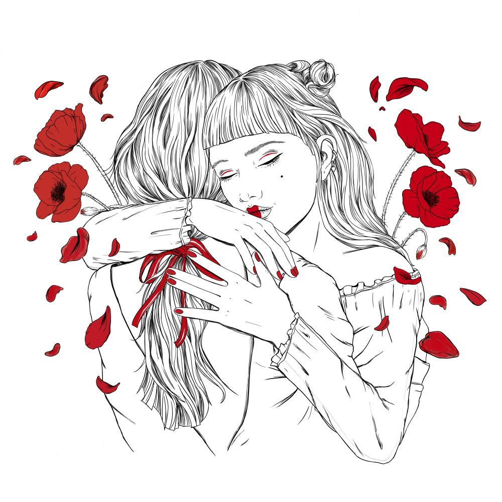 Ilustración de Sara Herranz con motivo del Día de la Amapola.