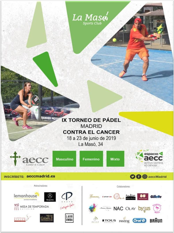 IX Torneo de pádel de Madrid contra el cáncer.