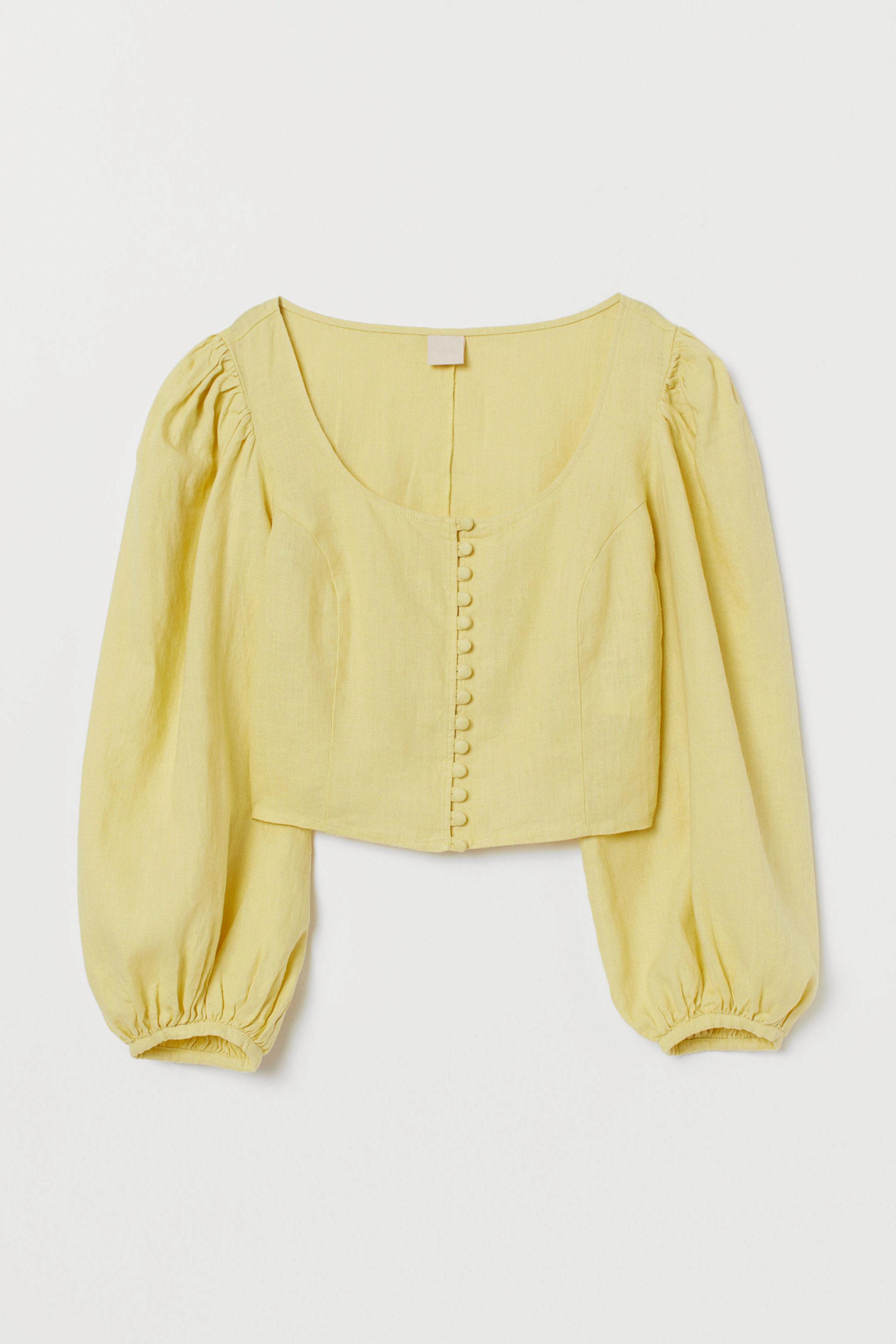 Blusa con mangas abullonadas de H&M