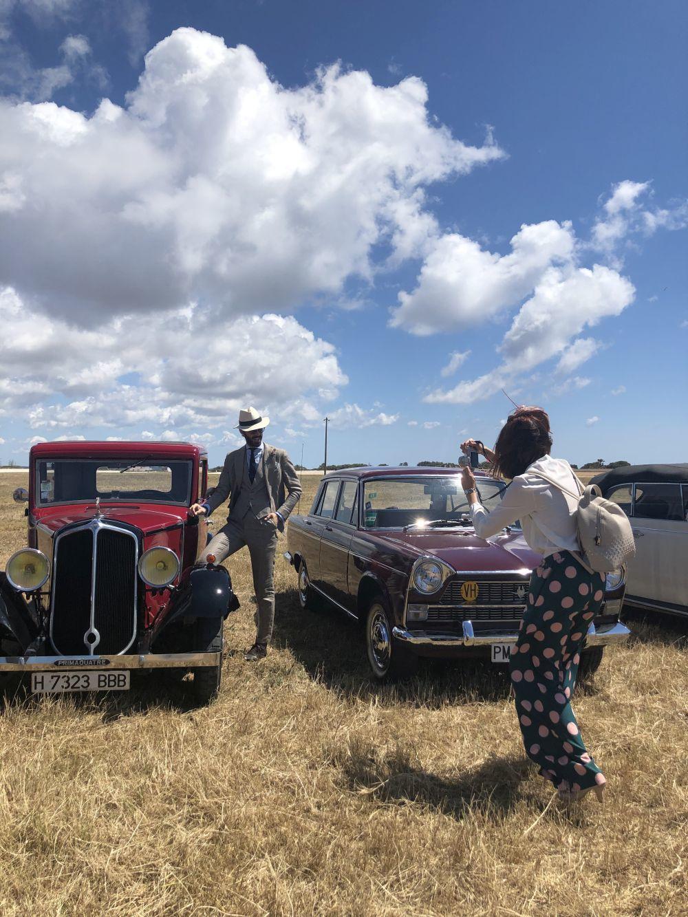 Exhibición de coches antiguos.