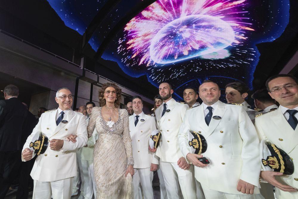 Sophia Loren, embajadora de MSC Cruceros, fue la anfitriona de la...