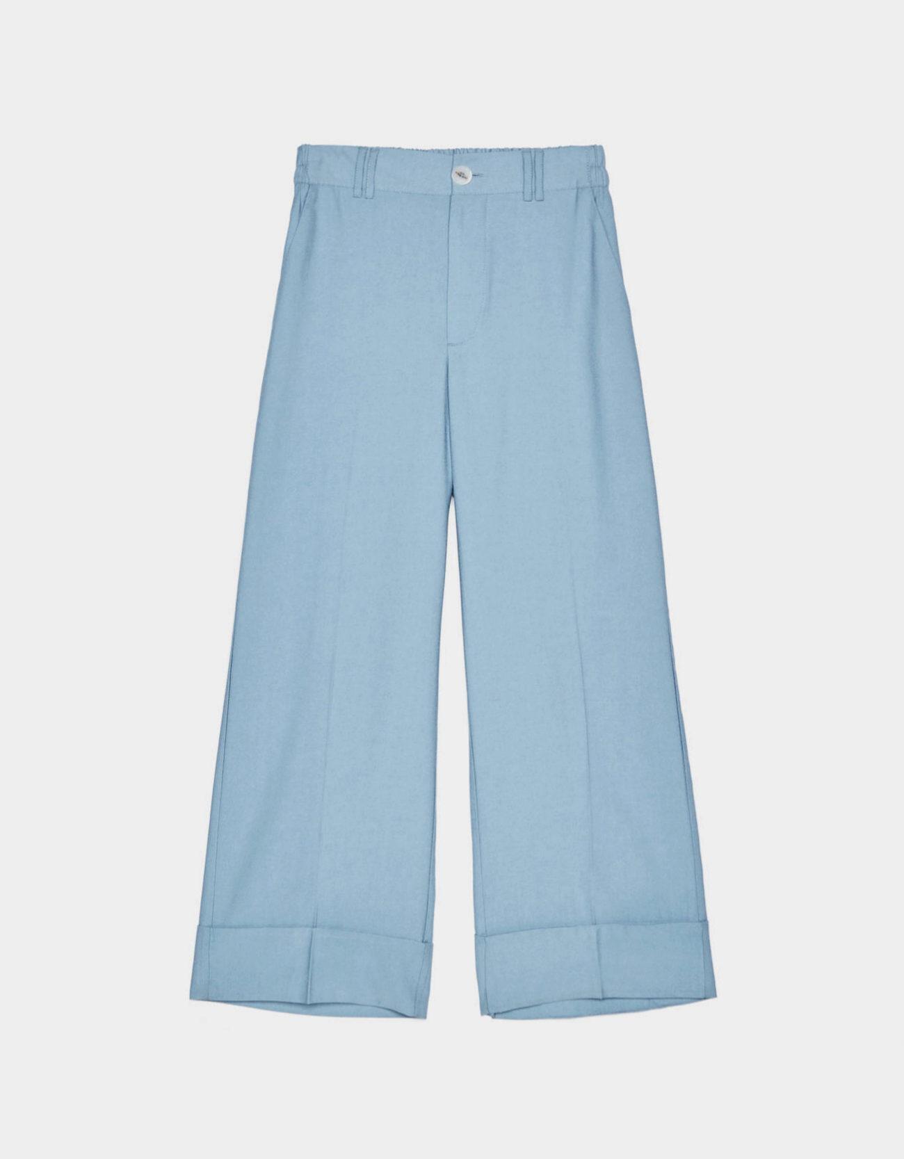 Pantalón culotte celeste de Bershka