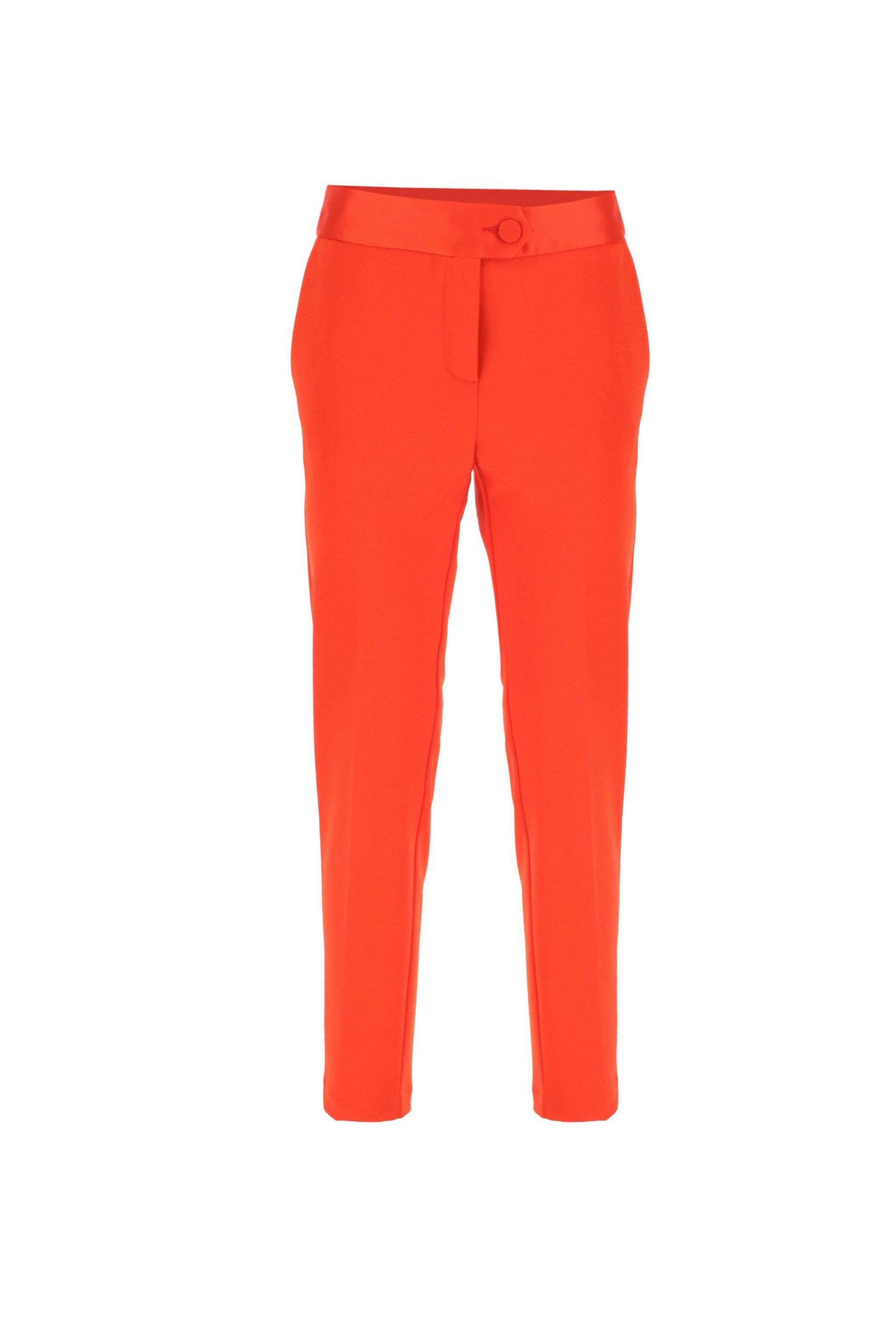 Pantalón en color naranja de pinzas de Imperial