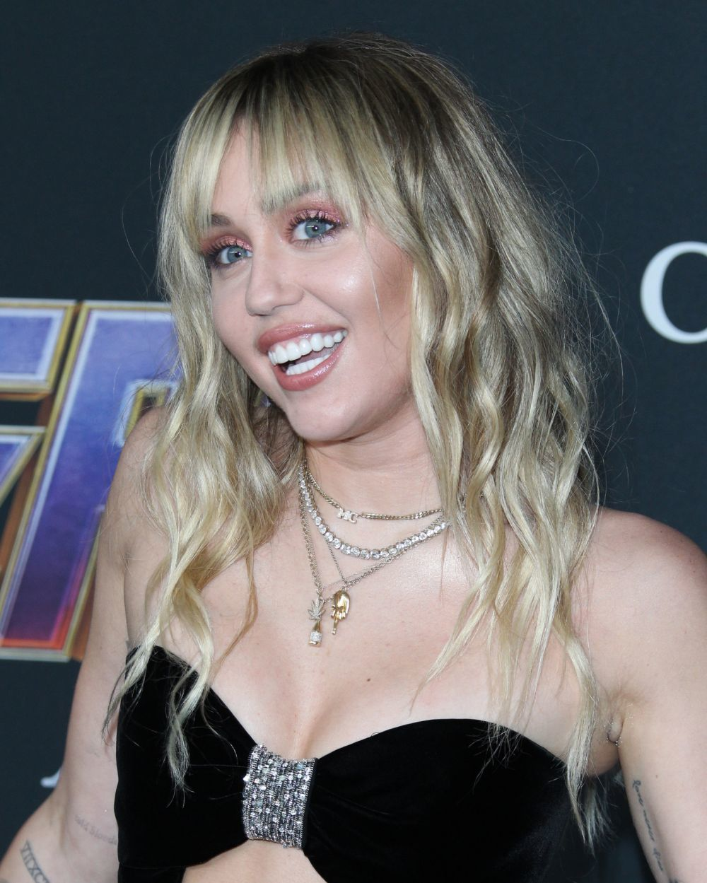 """Miley Cyrus en el estreno de la película de """"Vengadores: Endgame""""."""