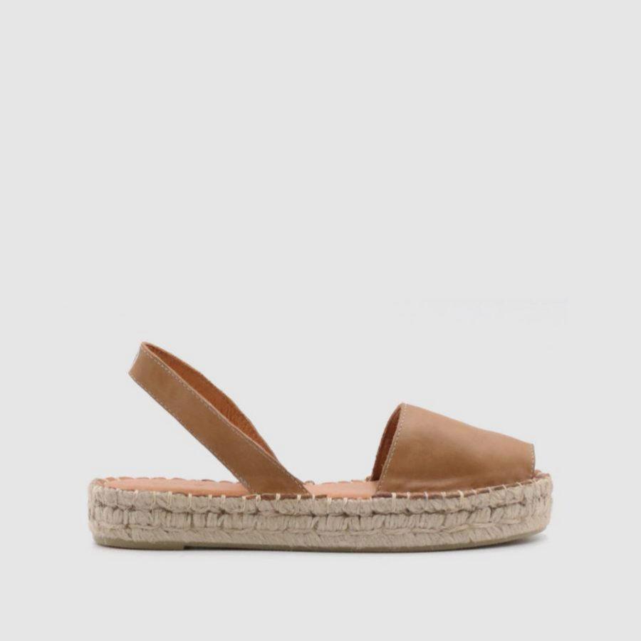 Abarcas de suela de esparto y piel de Alohas Sandals