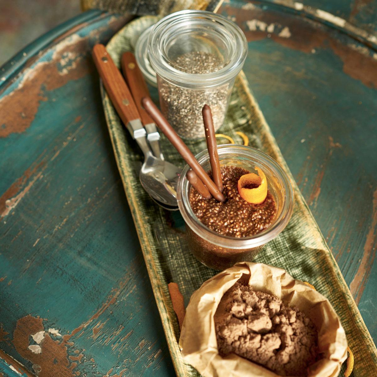 El pudding de chia con cacao es una perfecta opción para el desayuno
