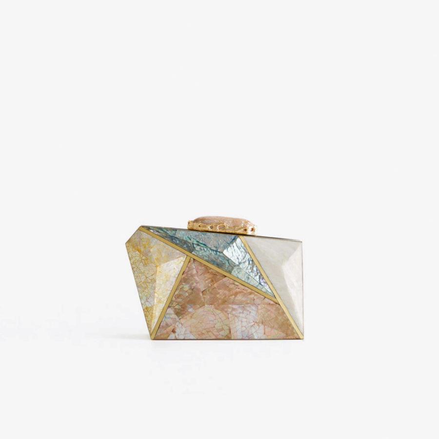 Clutch geométrico de Uterqüe