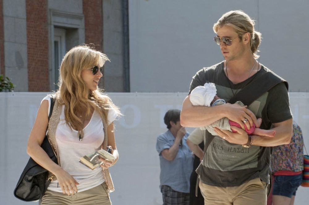 Chrish Hemsworth y Elsa Pataky con su hija India Rose.