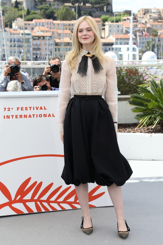Elle Fanning en Cannes.