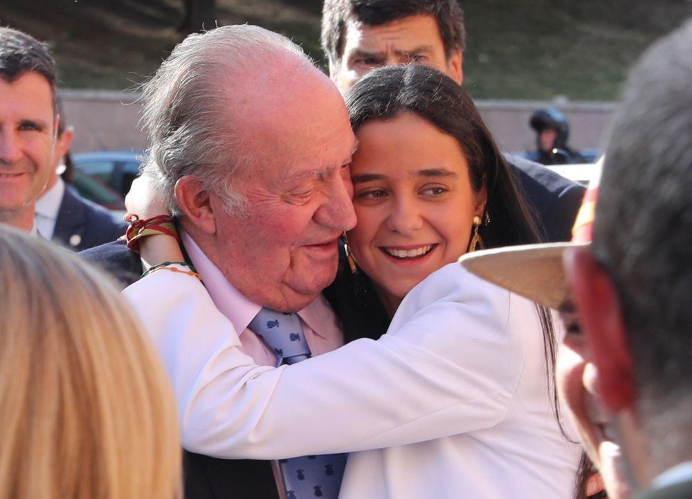 Victoria Federica con el rey Don Juan Carlos.