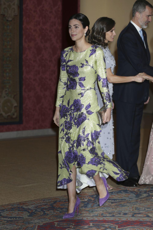Sassa de Osma con vestido de Jorge Vázquez Estudio en una recepción...