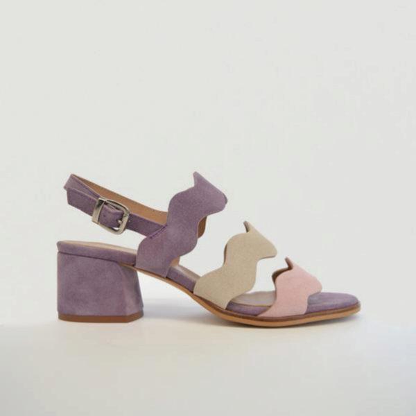 Sandalias tricolor en color violeta de Bryanstepwise