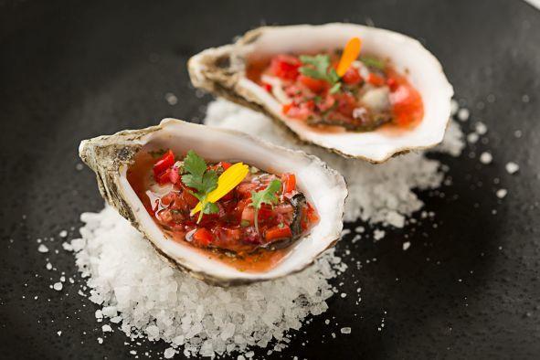 Ceviche de ostras de Regañadientes