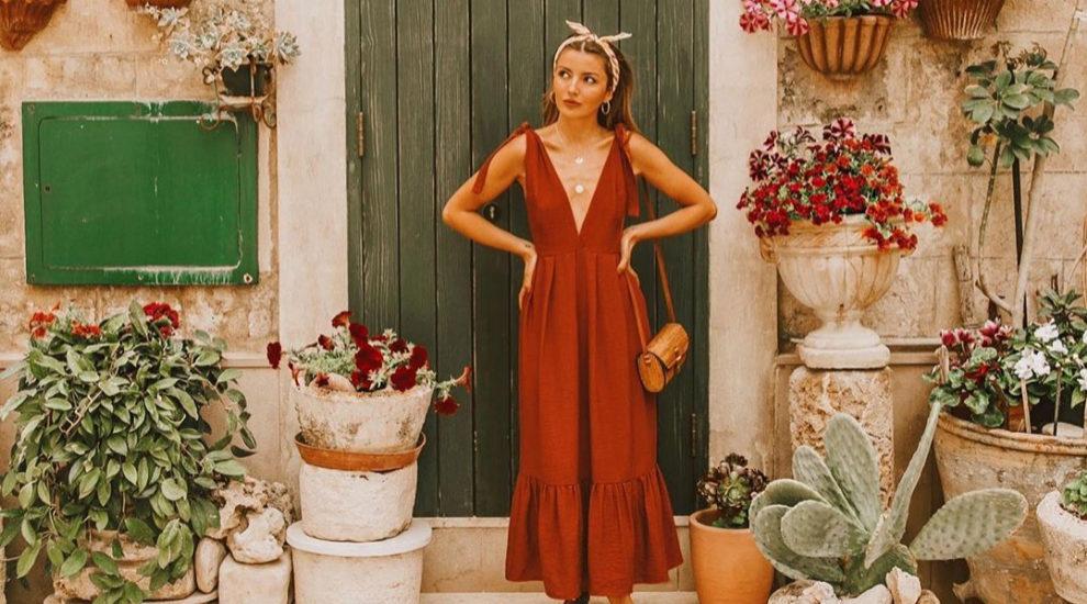 Alexandra Pereira en vestido largo