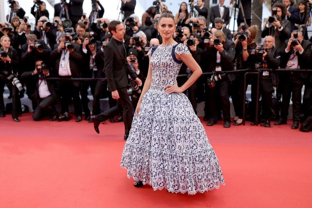 Penélope Cruz en la alfombra roja de Cannes 2019.