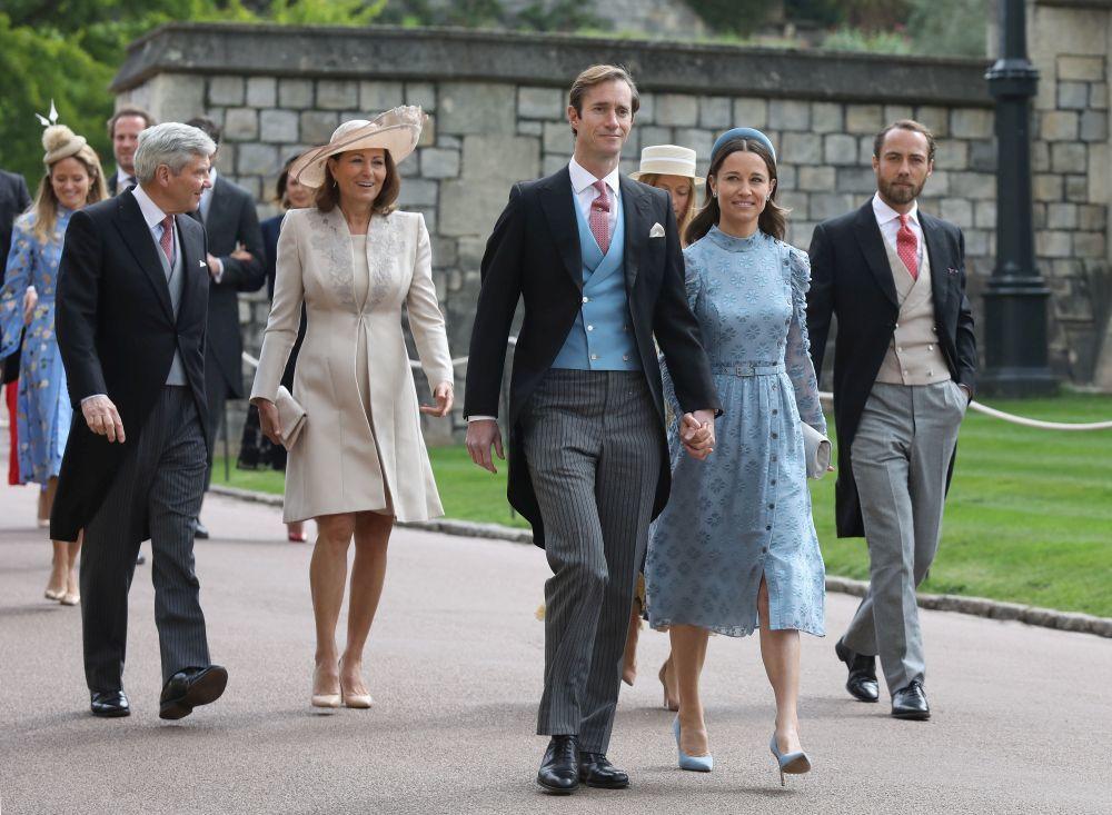 Los Middleton en la boda de Lady Gabriella Windsor.