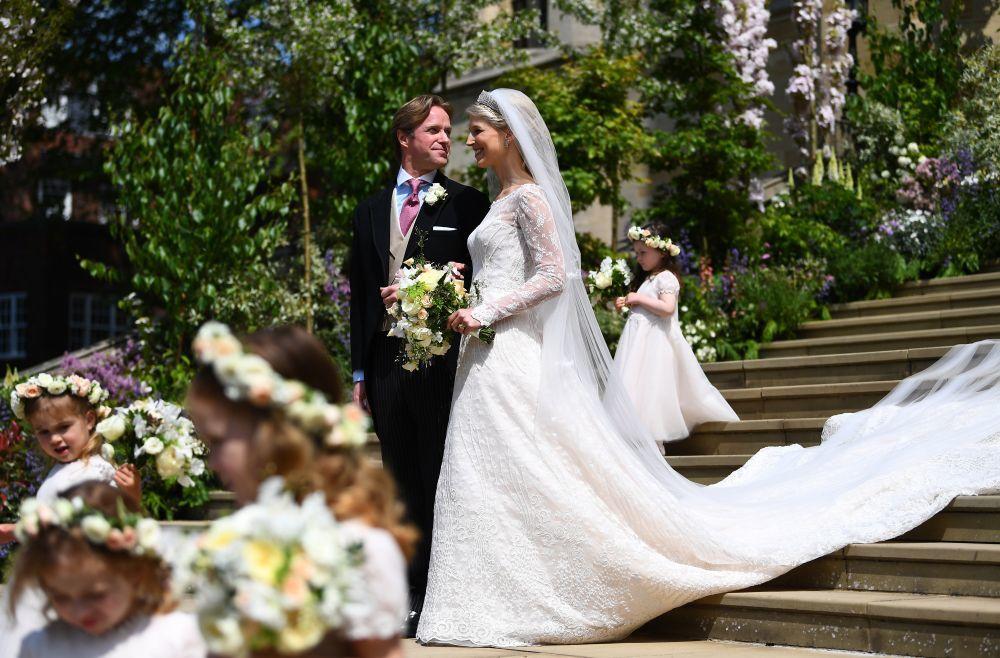 Lady Gabriella Windsor y su ya marido Thomas Kingston.