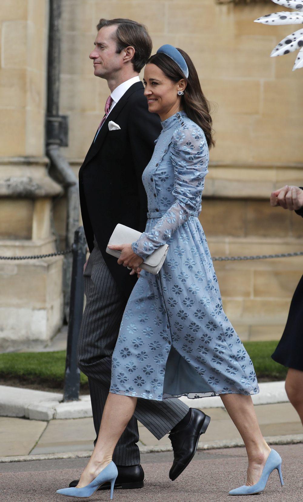 El look de invitada de Pippa Middleton.