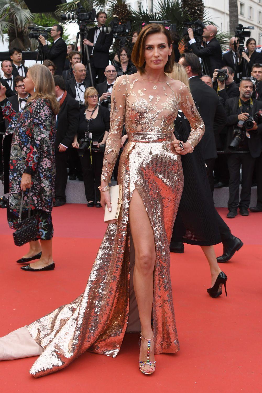 Nieves Álvarez en Cannes 2019 con vestido de Elie Saab Alta Costura.
