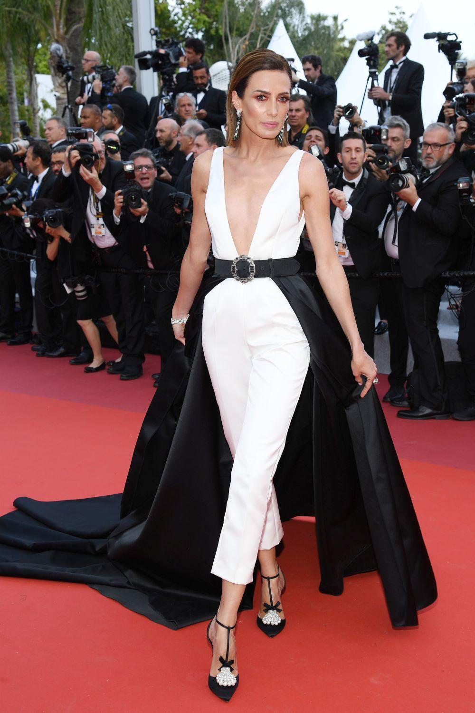 Nieves Álvarez en la alfombra roja de Cannes 2019.