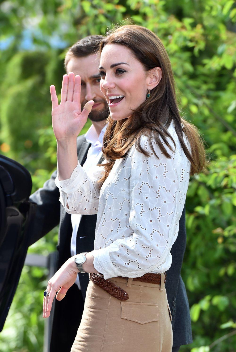Kate Middleton  en el RHS Chelsea Flower Show.