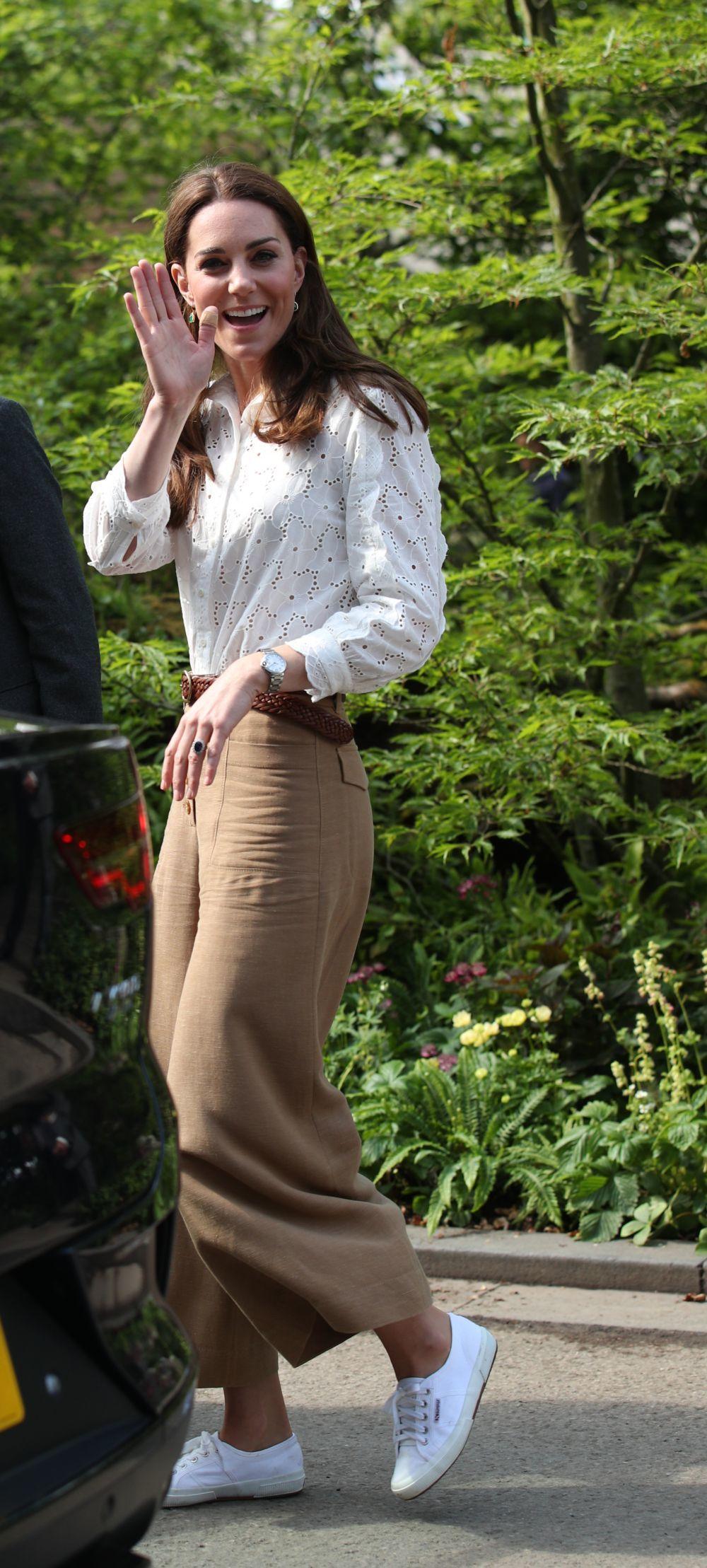 La Duquesa de Cambridge con un look casual.