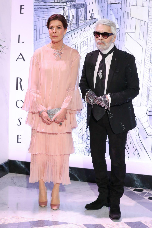 Carolina de Mónaco junto a su amigo Karl Lagerfeld