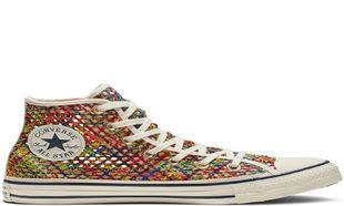 Zapatillas de crochet de colores de Converse via Drestip