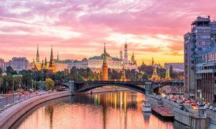 Amanecer del Kremblin de Moscú.
