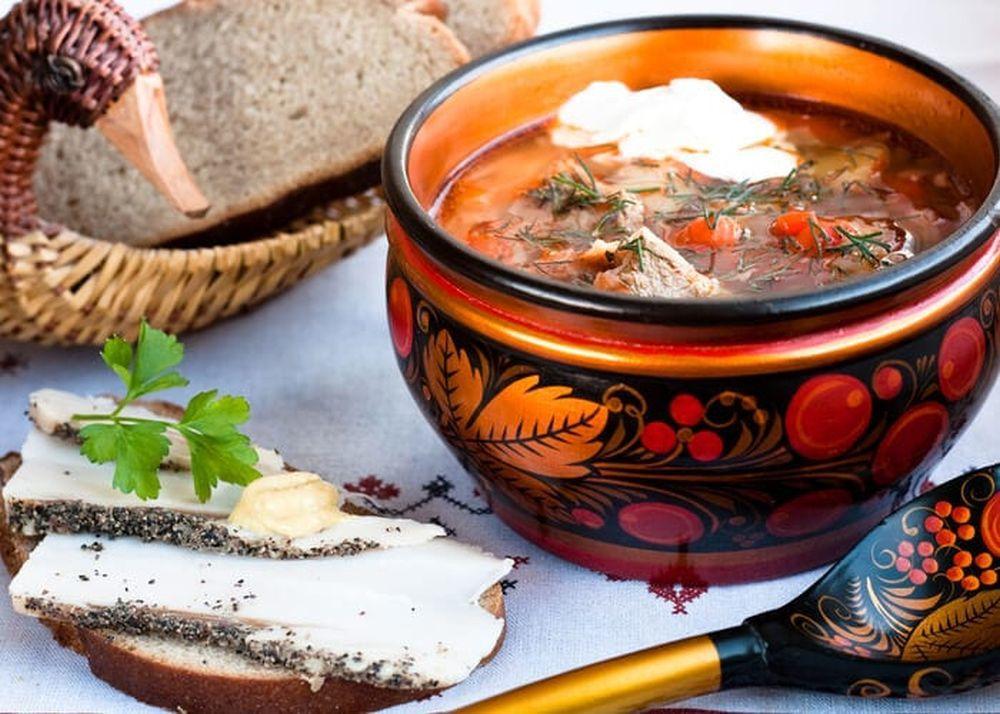 Comida tradicional rusa.
