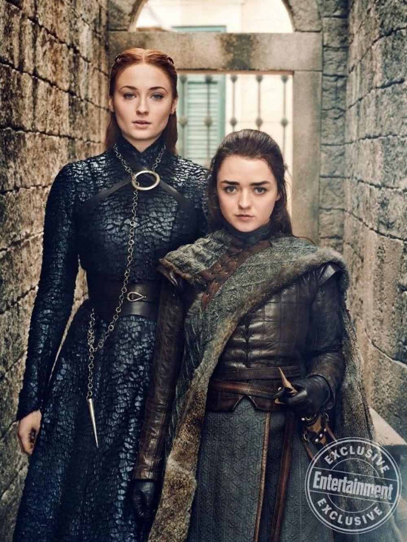 Sansa Stark y Arya Stark.