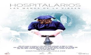 """Cartel de """"Hospitalarios. Las manos de la Virgen""""."""