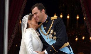 Los reyes Felipe y Letizia el día de su boda.