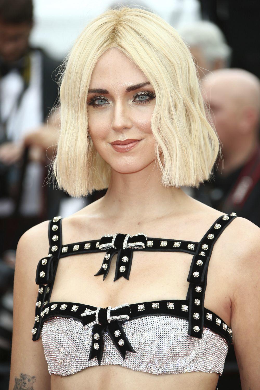 Chiara Ferragni con su nuevo corte de pelo blunt bob en el Festival de...