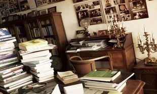 El escritorio del científico.