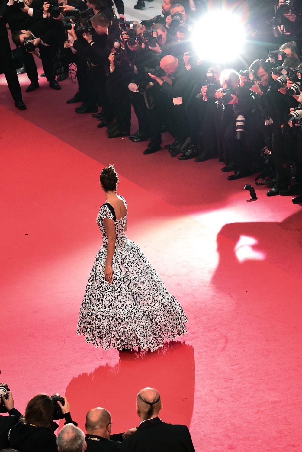 Penélope Cruz en la alfombra roja de Cannes.