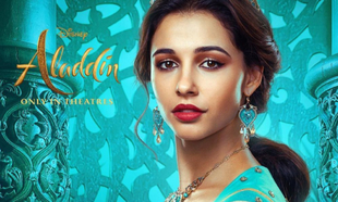 Naomi Scott interpreta a Jasmine en la nueva película de Aladdin.