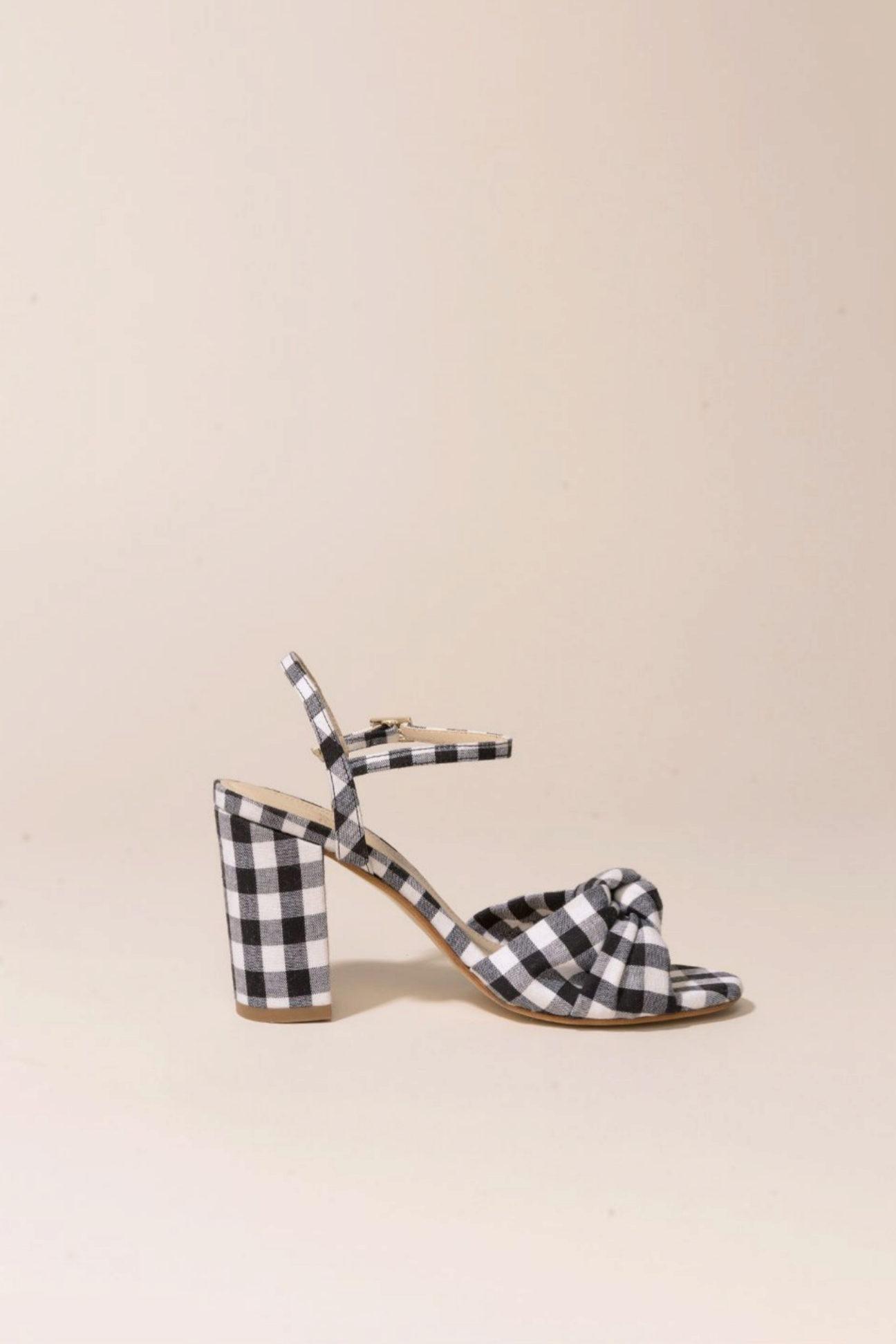 Sandalias de tacón con cuadros vichy de Petit Mafalda de Mint and...