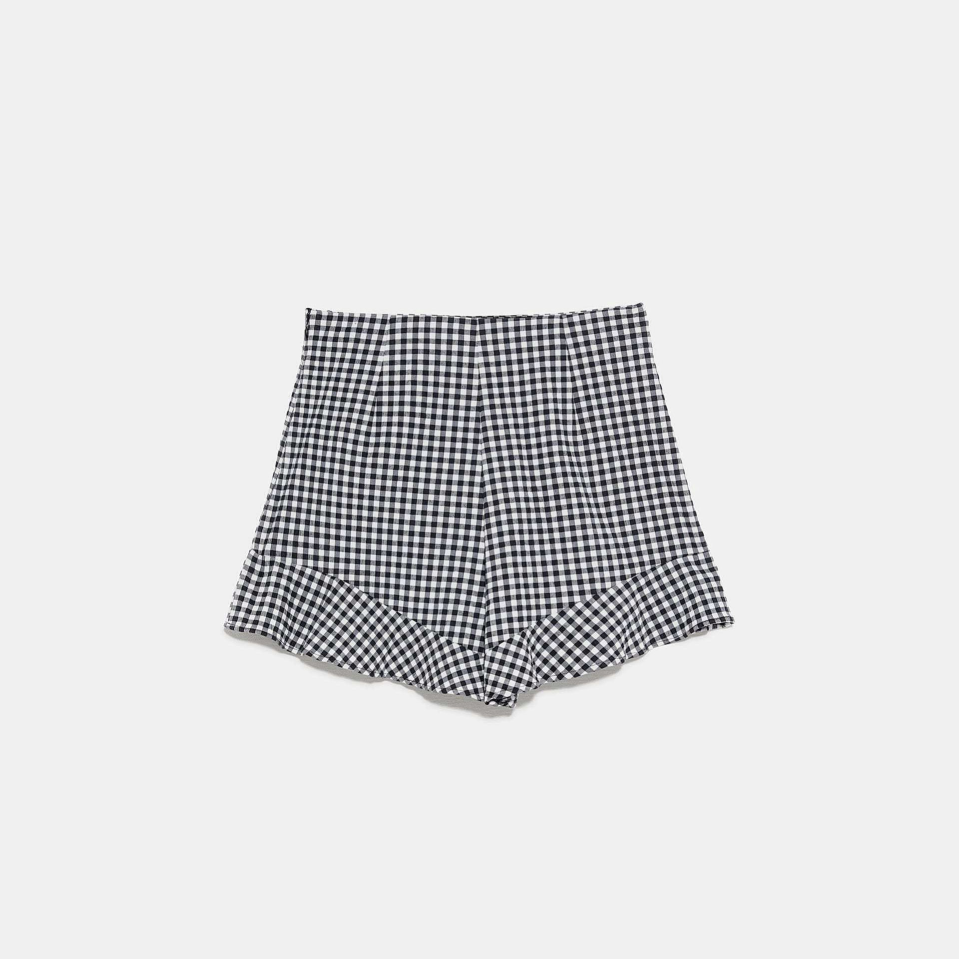 Shorts de cuadros vichy de Zara