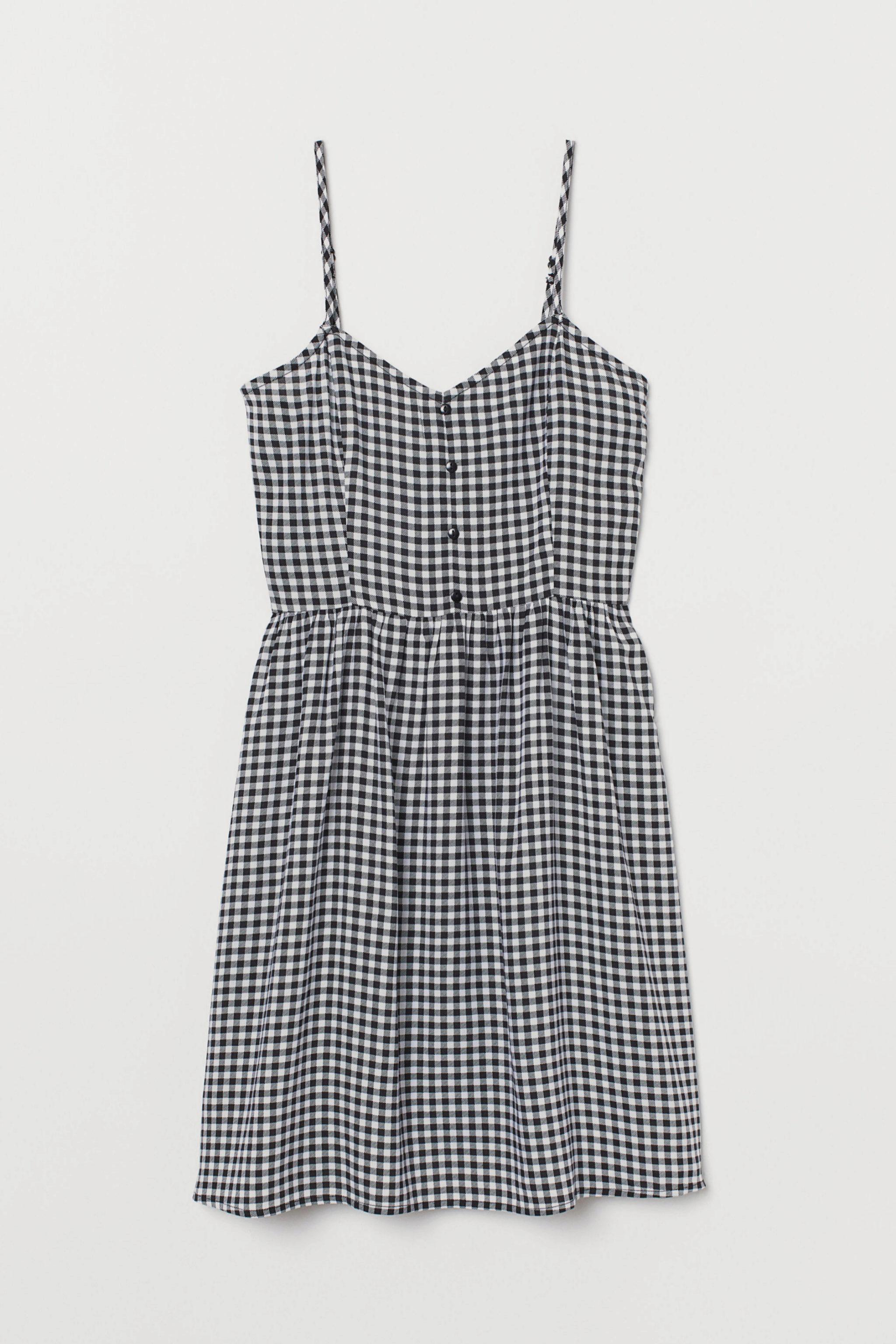 Minivestido de cuadros vichy de H&M