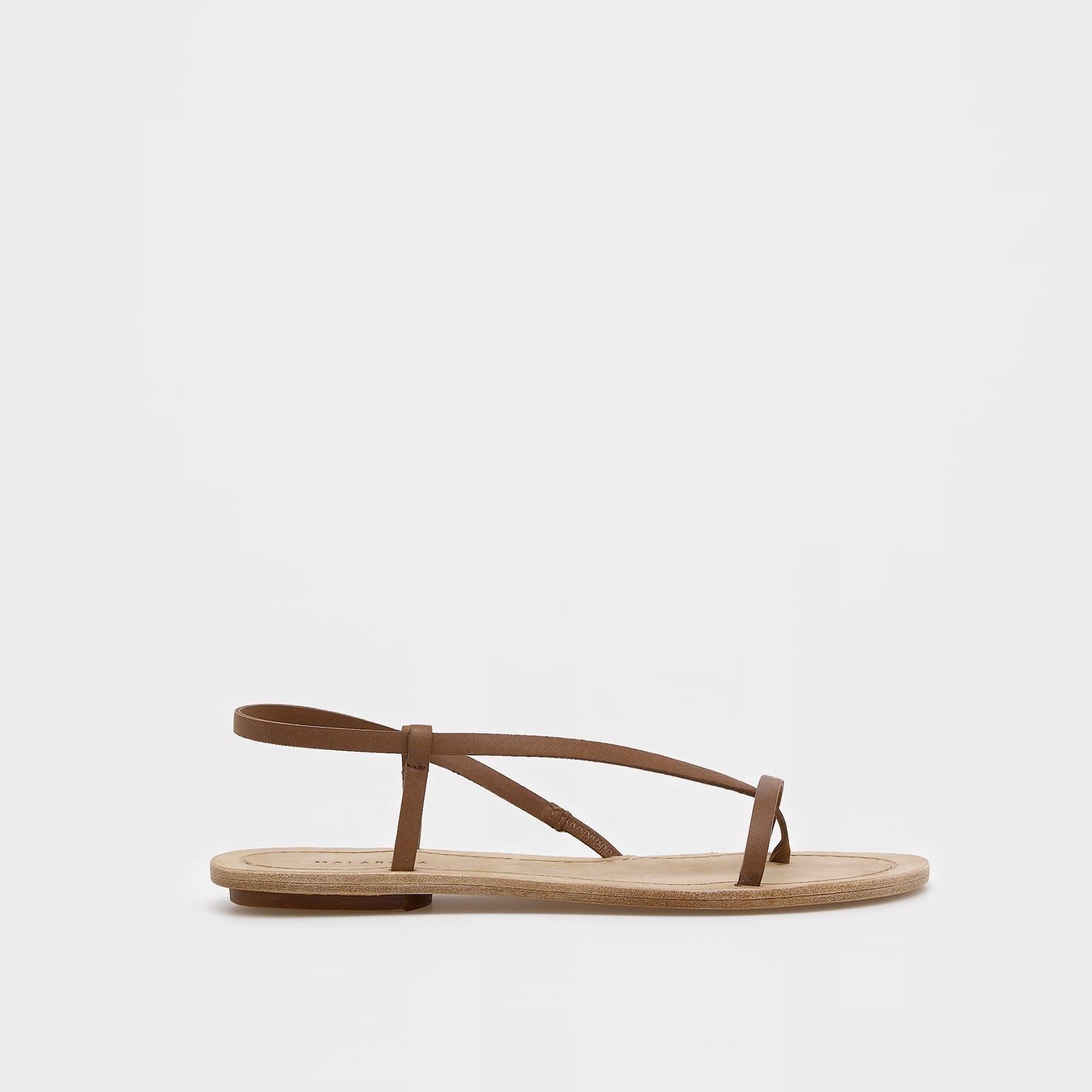 Sandalias de piel de estilo minimalista de Malababa